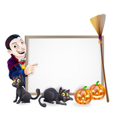 halloween dracula sign vector image