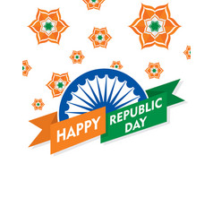 happy independence day india poster design vector image