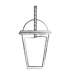 Healthy smoothie to go vector