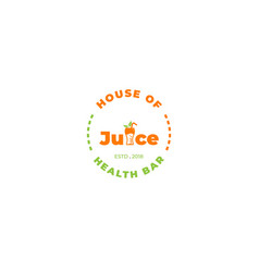 house juice logo wit lettering vector image