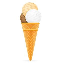 Ice cream with cone 07 vector