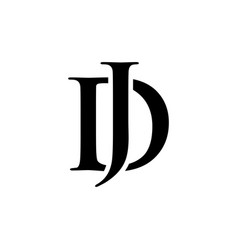 initial dj alphabet logo design template vector image