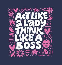 Inspirational girls power quote vector