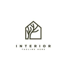 interior logo design symbol vector image