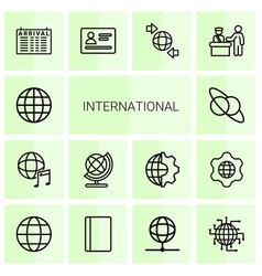 international icons vector image