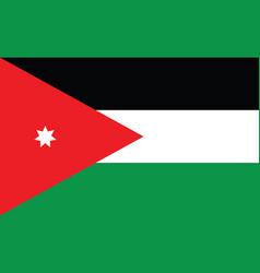 Jordan flag simple national flag jordan vector