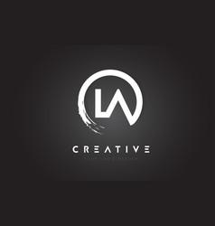 la circular letter logo with circle brush design vector image