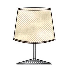 Lamp light decoration object vector