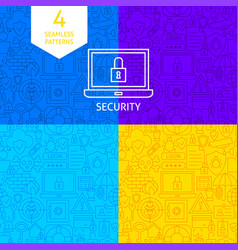 line security patterns vector image