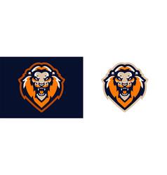 Lion logo the king of beasts leo dangerous vector
