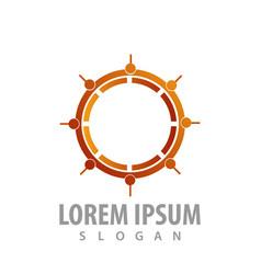 logo concept design compass symbol graphic vector image