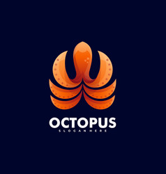 logo octopus gradient colorful style vector image