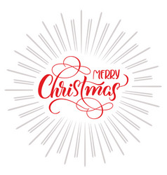 Merry christmas text and abstract background with vector