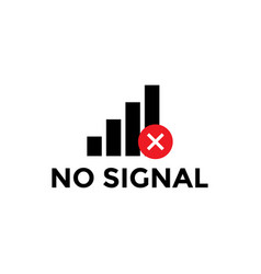 no signal icon design template isolated vector image