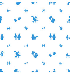 Parent icons pattern seamless white background vector