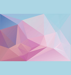 Pink abstract geometric background with triangles vector
