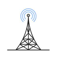 Radio tower color icon vector
