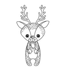 reindeer cute wildlife icon vector image