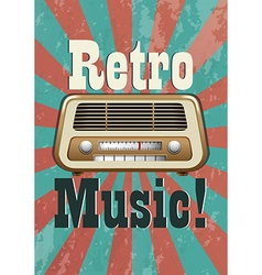 Retro music vector image
