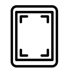 Screen record tablet icon outline style vector