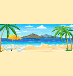 sea beach summer landscape ocean coast panorama vector image