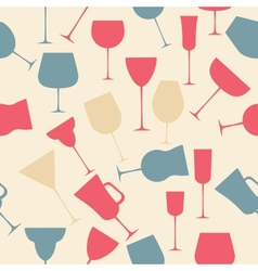 Seamless background pattern of black alcoholic vector image