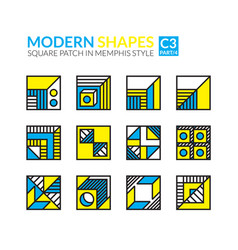 set memphis patches vector image