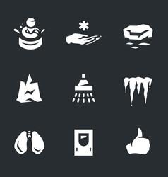 Set of body freeze icons vector