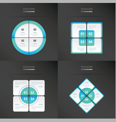 Set of presentation template blue color vector