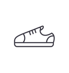 Sneaker shoes line icon sign vector