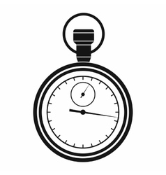 Stopwatch icon in simple style vector image