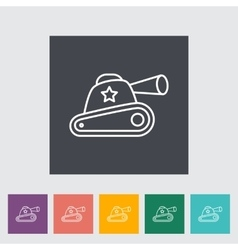 tank toy vector image