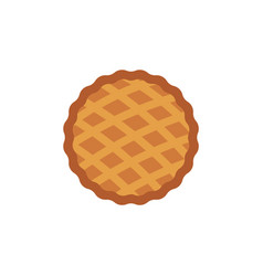 thanksgiving pie icon thanksgiving holiday vector image