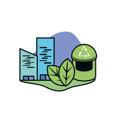 Trash and sustainability design ilustration vector