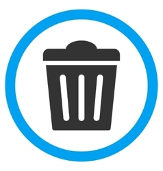 Trash Can Flat Rounded Icon vector image