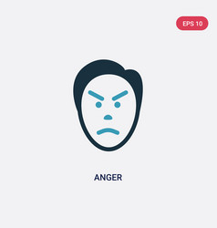 Two color anger icon from user concept isolated vector