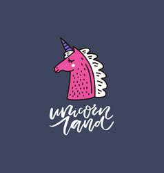 Unicorn lettering vector