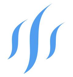 vapor flat icon symbol vector image