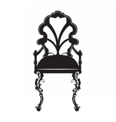 Vintage style chair with rich ornaments vector