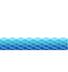 water waves ocean surfing wave isolated sea vector image