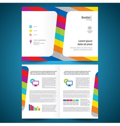 booklet catalog brochure folder colorful line vector image vector image