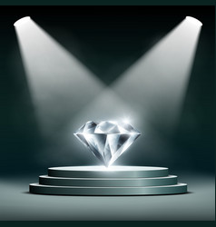 diamond on pedestal vector image