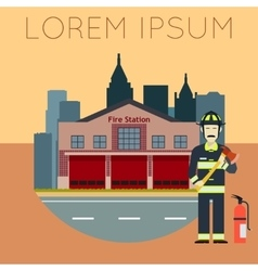 Fire Station Banner10 vector image vector image
