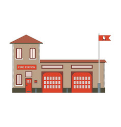 fire station building icon flat vector image