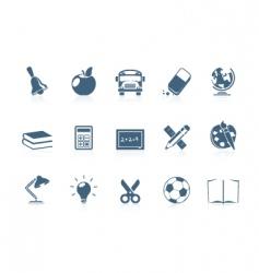 school icons piccolo series vector image vector image