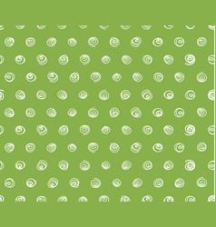 swirls on greenery background seamless pattern vector image