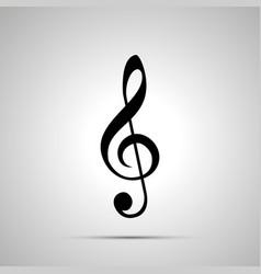 treble clef silhouette simple black icon vector image