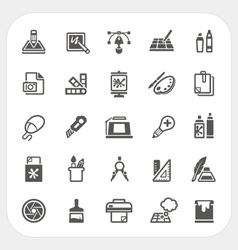 Art and Graphic design icons set vector image