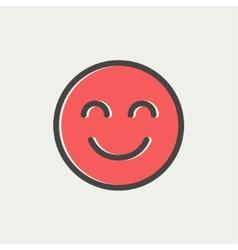 Cute smile thin line icon vector image