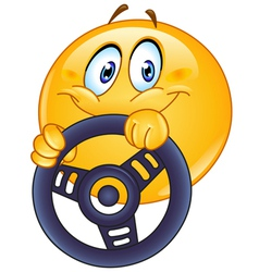 driving emoticon vector image vector image